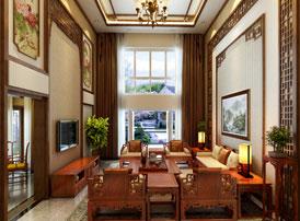 江苏常州别墅简约古典中式装修案例  清风明月,清雅如菊