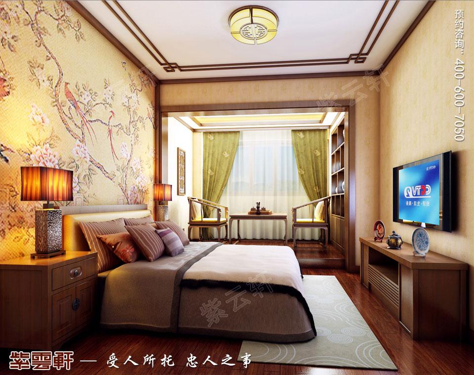 别墅子女房现代中式风格装修效果图