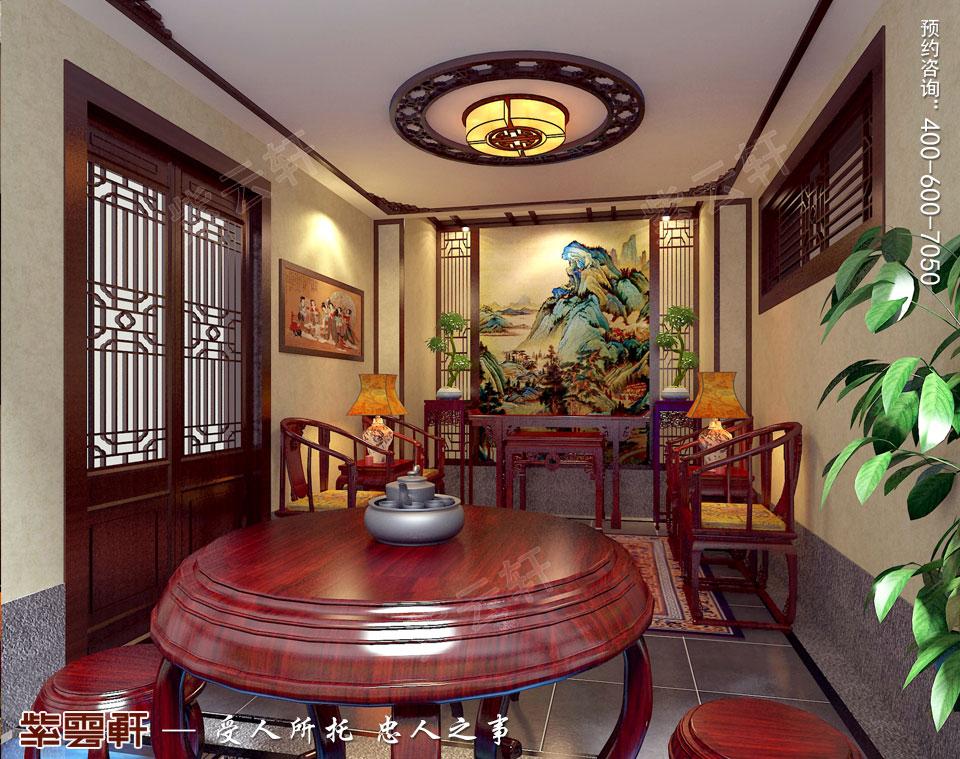 别墅茶室现代中式风格装修效果图