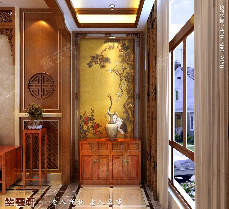 别墅玄关<a href=http://www.bjzyxuan.com/xiandaizhongshi/ target=_blank class=infotextkey>现代中式风格</a>装修效果图