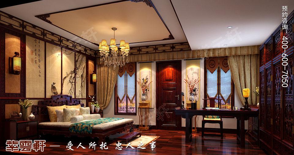 别墅次卧室古典中式装修效果图