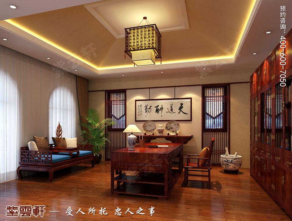 别墅书房简约古典中式风格装修图