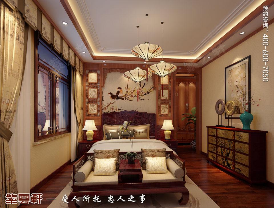 别墅老人房简约古典中式风格装修图