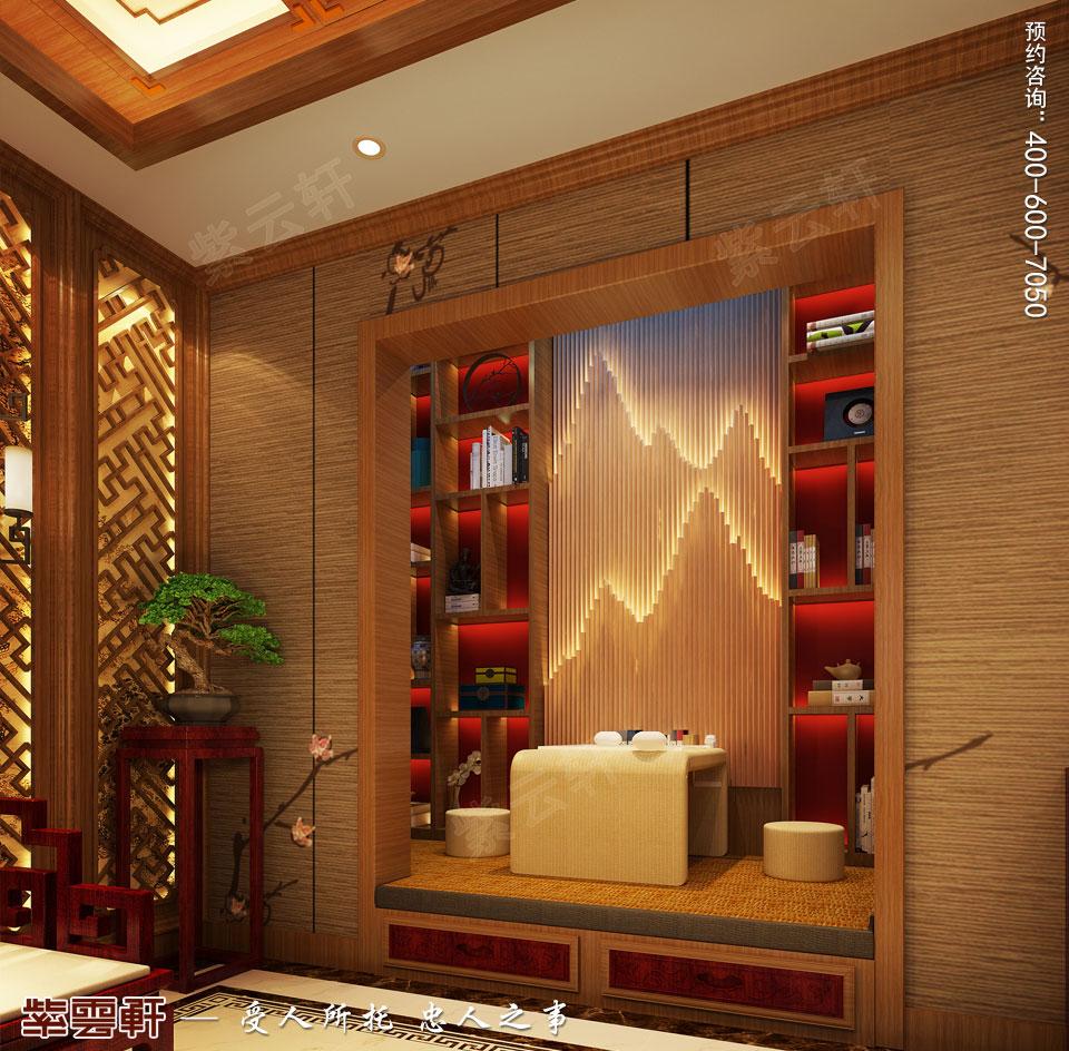 别墅影音室简约古典中式风格装修图
