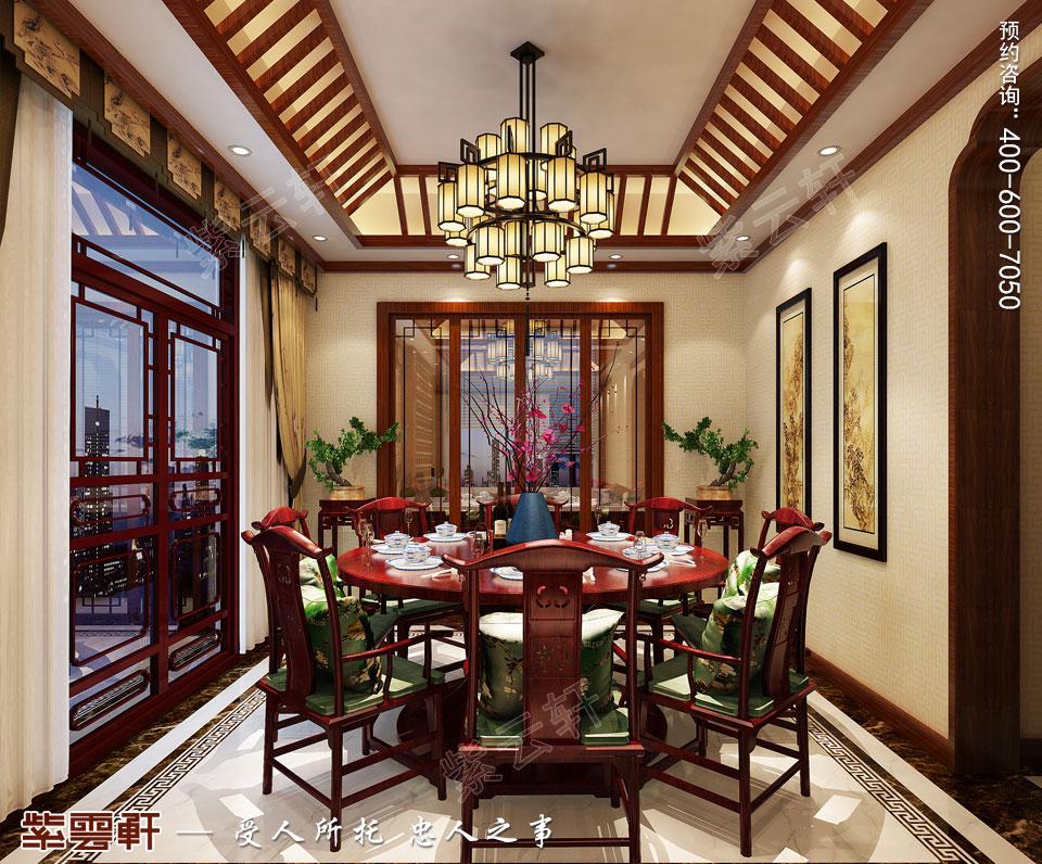 别墅餐厅简约古典中式风格装修图