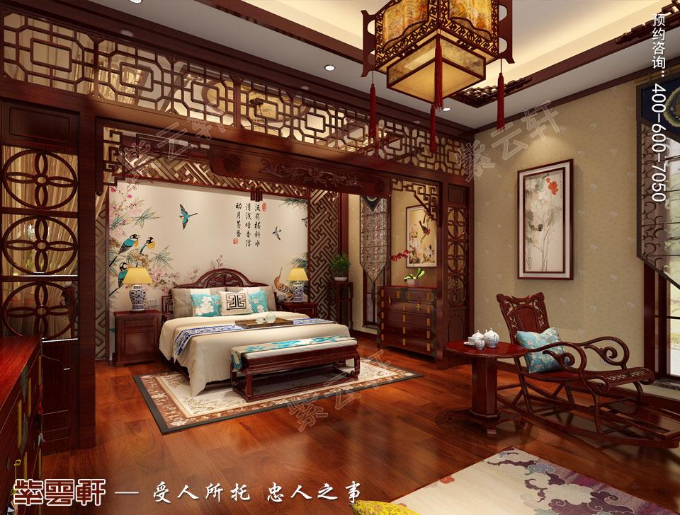别墅主卧简约古典中式风格装修图