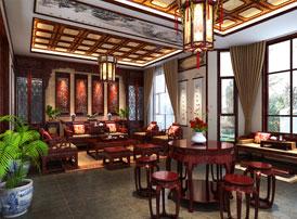 石家庄江南新城白总别墅古典中式装修案例  典雅大气,豪华精美