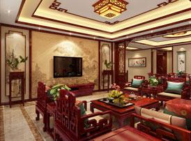 山东济南别墅现代中式装修案例  有河东之豪,有江南之媚