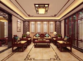 汉中邹总别墅现代中式风格装修效果图 清朗秀美,大雅之堂