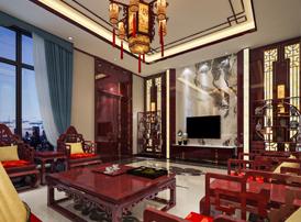 邳州张总现代中式风格装修效果图 华贵清朗,富丽之家