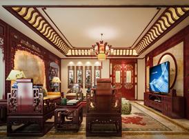 莱西小别墅现代中式风格装修效果图 雅致写意,气韵清宁