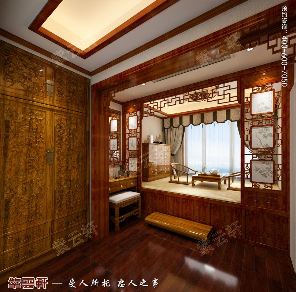 别墅暖阁房现代中式装修效果图.jpg