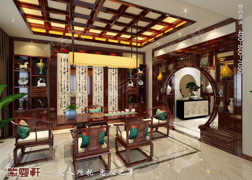 别墅茶室中式装修效果图