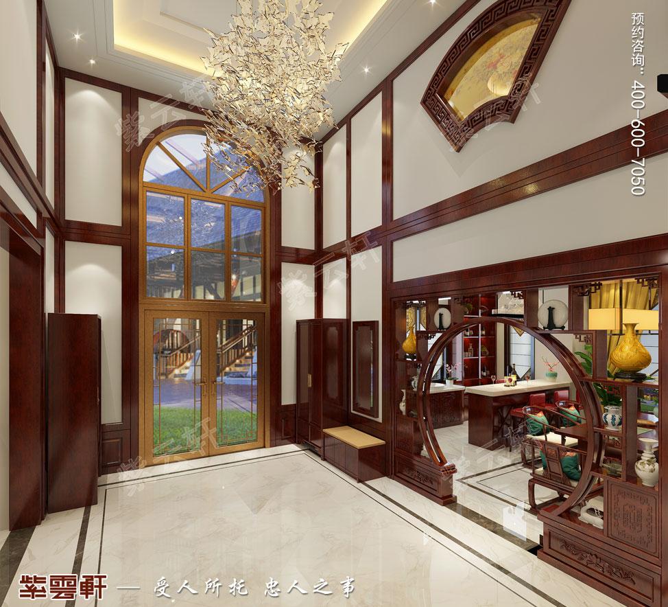 别墅门厅现代中式装修效果图.jpg