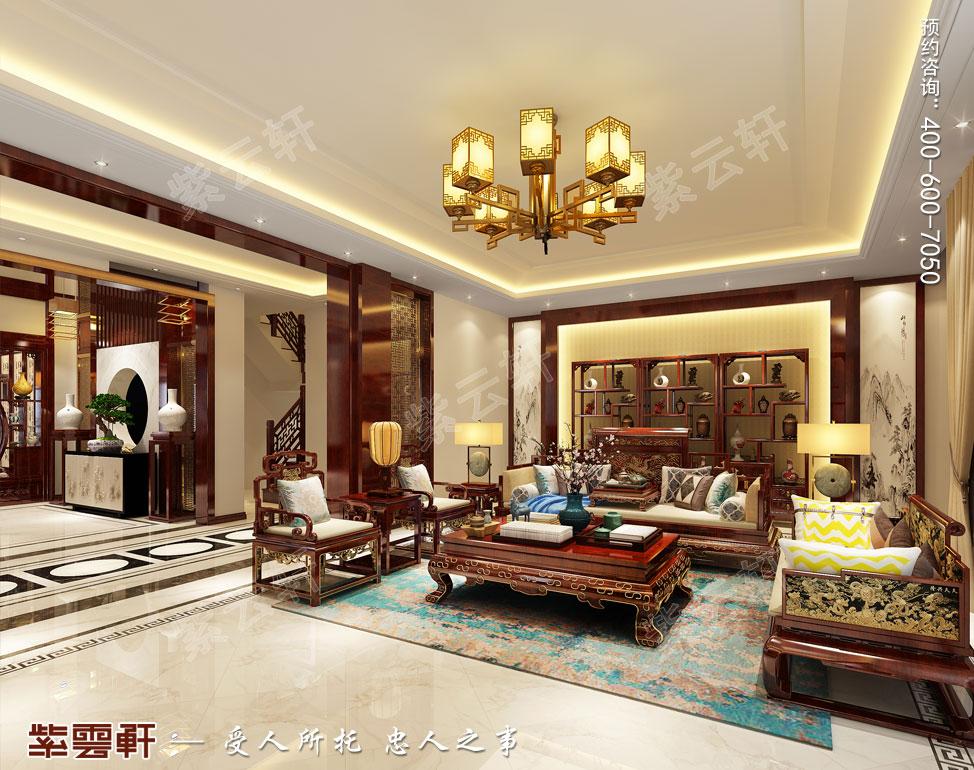 别墅客厅现代中式装修效果图.jpg