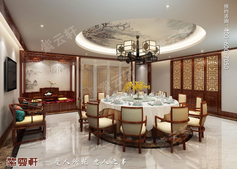 别墅餐厅现代中式装修效果图.jpg
