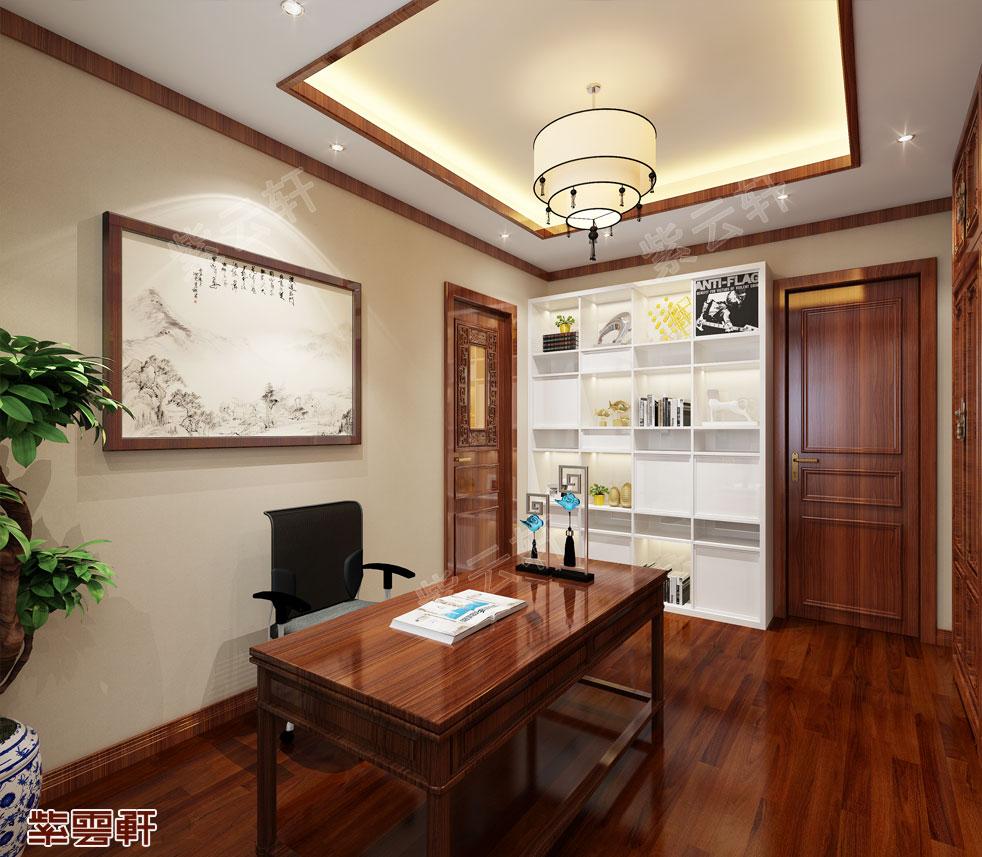 别墅书房现代中式装修效果图.jpg