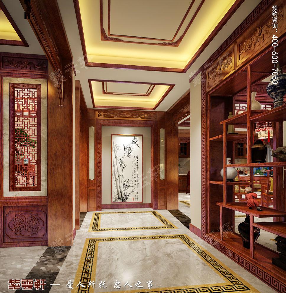 别墅过廊简约古典中式装修效果图