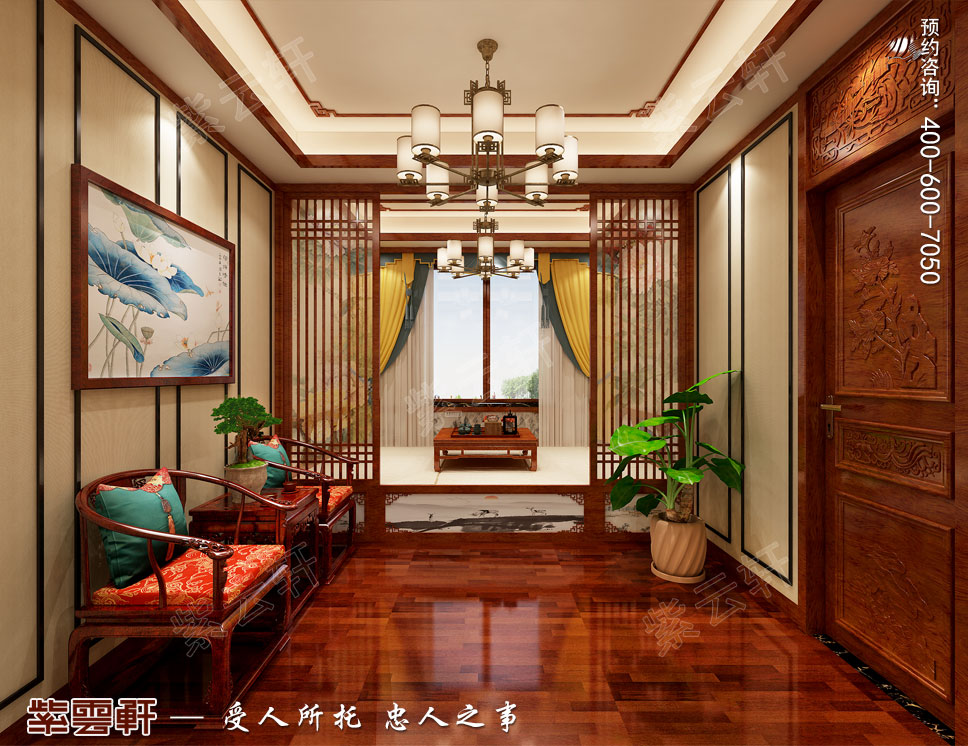 别墅休闲榻榻米简约古典中式装修效果图