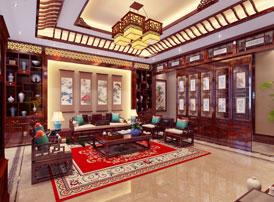 天津塘沽别墅简约古典中式装修效果图 秀美中有大方的清雅之居