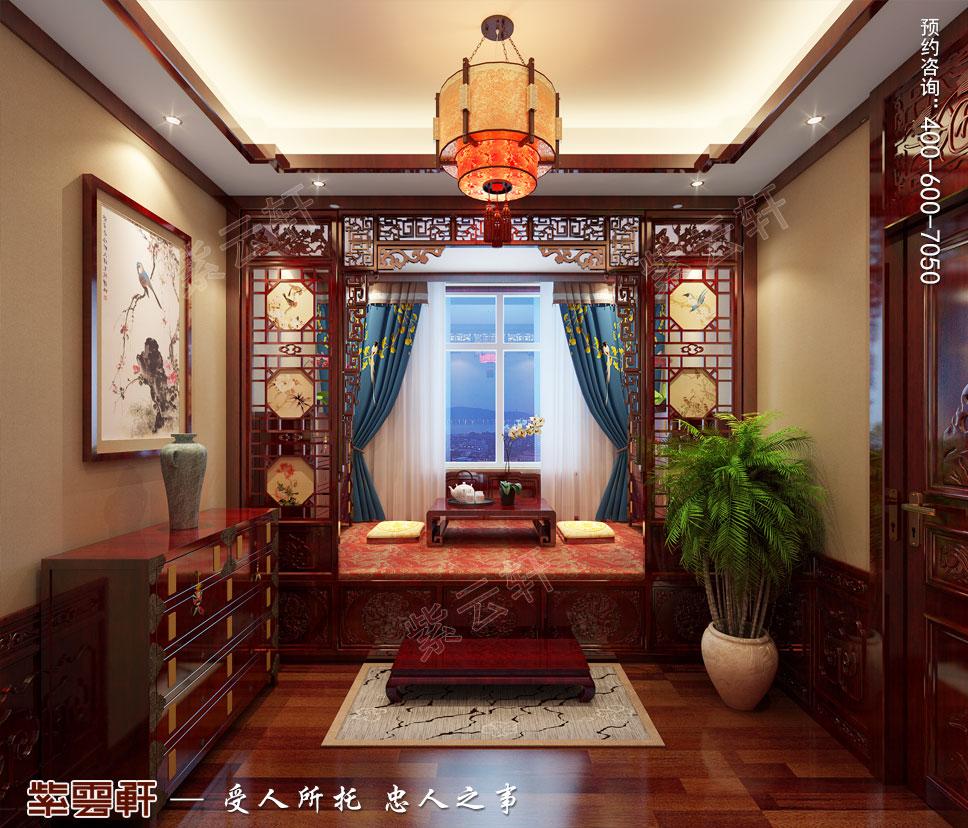 别墅暖阁简约古典中式装修效果图