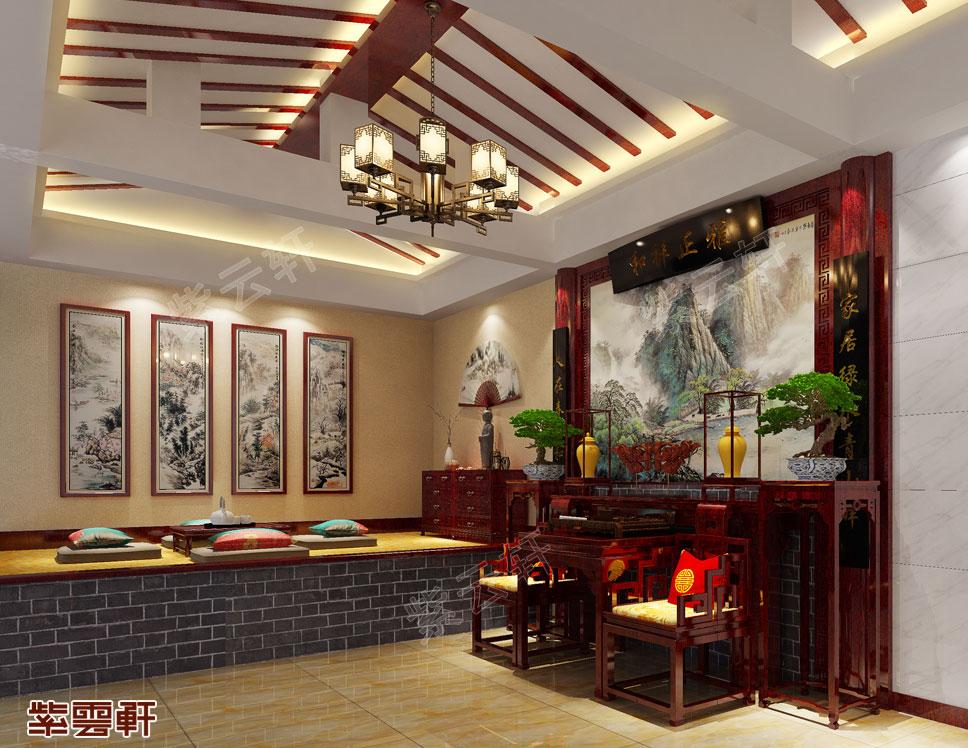 现代中式西厢房装修图片