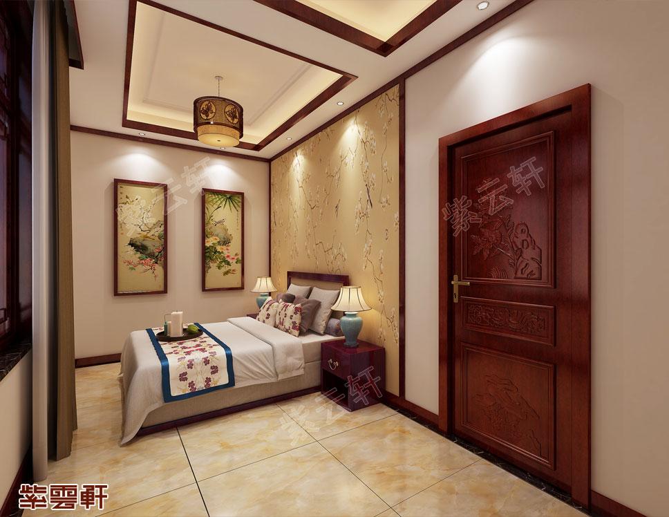 现代中式次卧装修图片