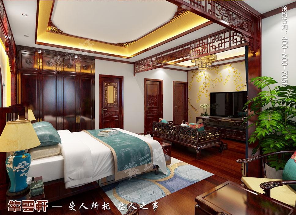 别墅主卧古典中式装修图
