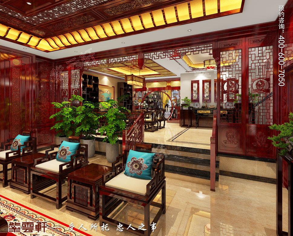 别墅客厅古典中式装修图