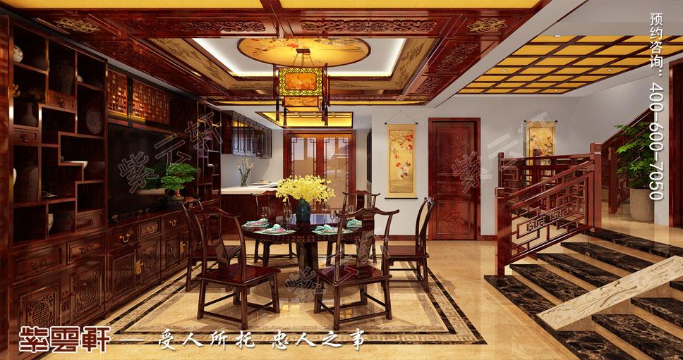 别墅餐厅古典中式装修图