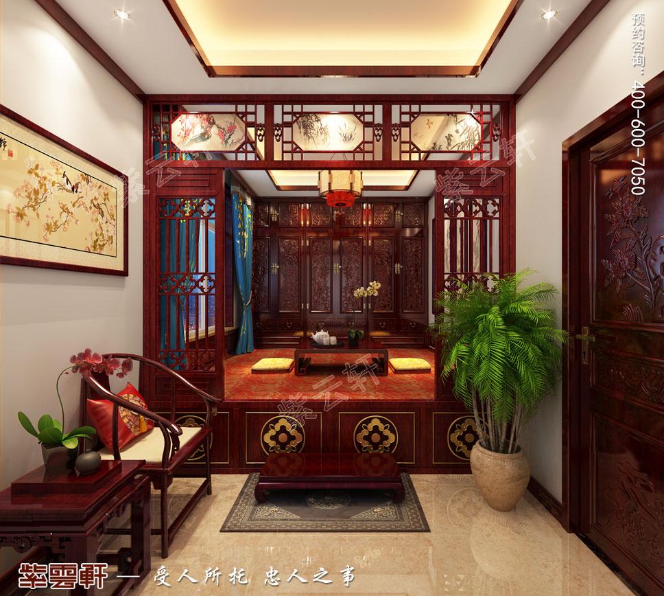 别墅暖阁古典中式装修图