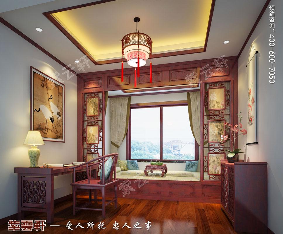 别墅暖阁现代中式装修效果图
