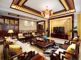 呼和浩特别墅简约古典中式设计效果图  华贵秀美 清丽典雅
