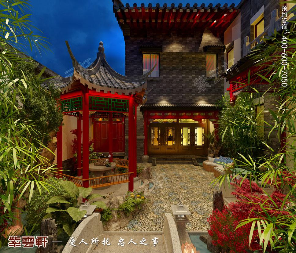 后院简约古典中式风格