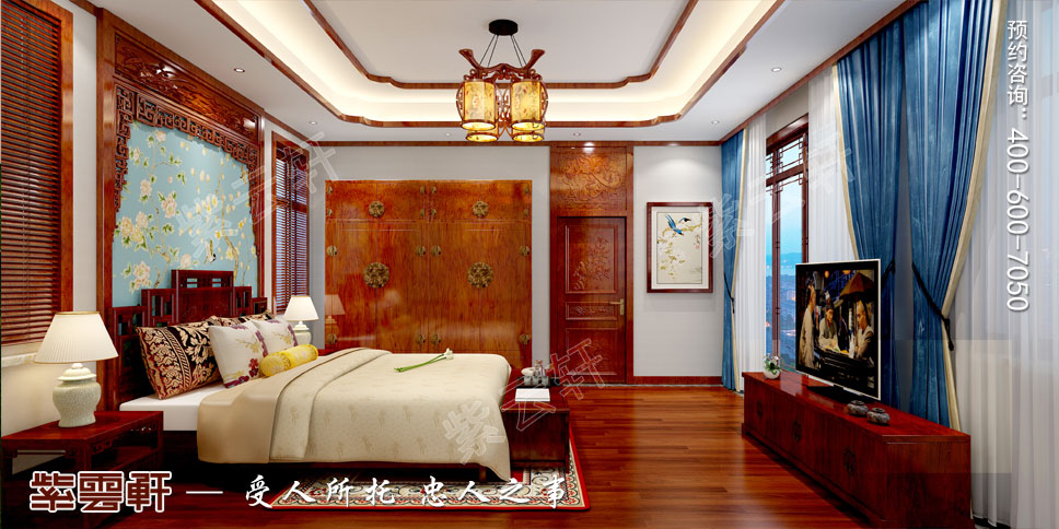 卧室中式装修效果图