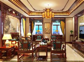 银川别墅古典中式设计效果图  典雅清美 不同流俗