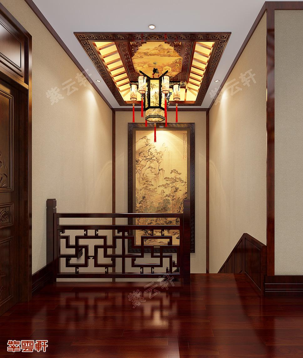 中式装修 楼梯过道