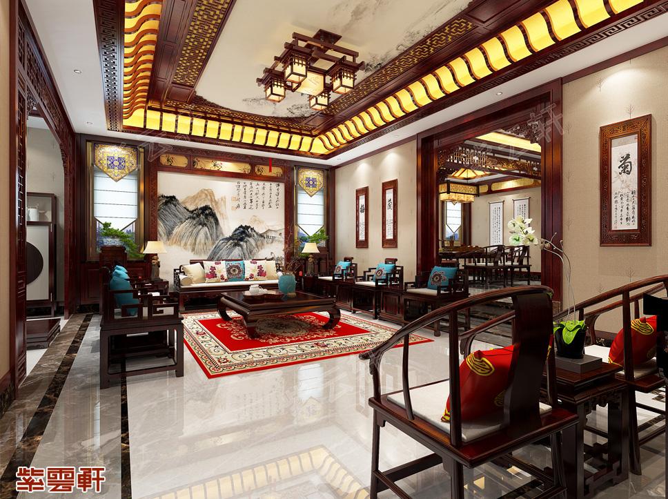 武汉独栋别墅简约古典中式装修效果图   典雅庄重 富贵宁华
