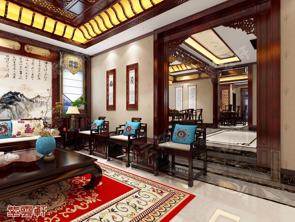别墅中式装修 客厅