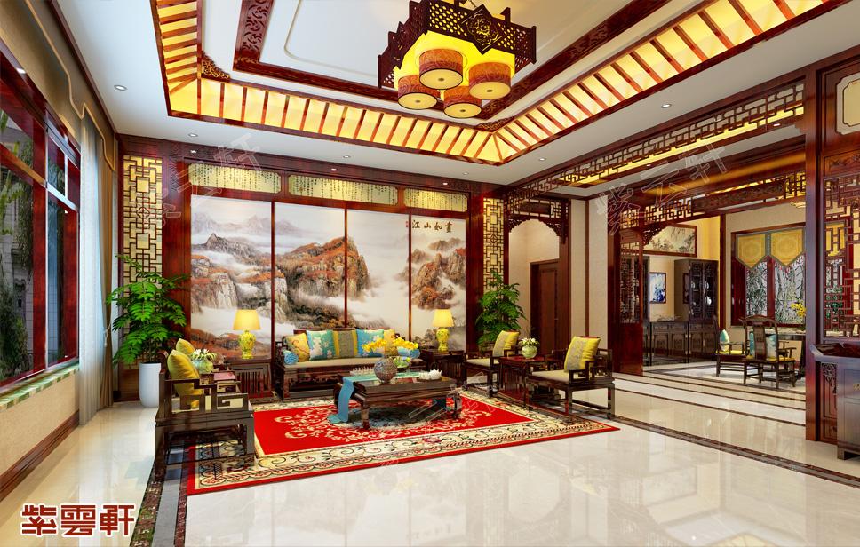 江苏南京简约古典中式别墅效果图 文雅高洁 精致唯美