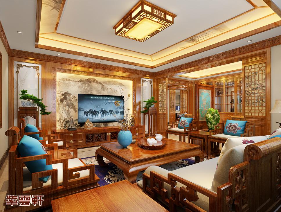 带你鉴赏山东杨总独栋别墅古典中式设计效果图 至美至真