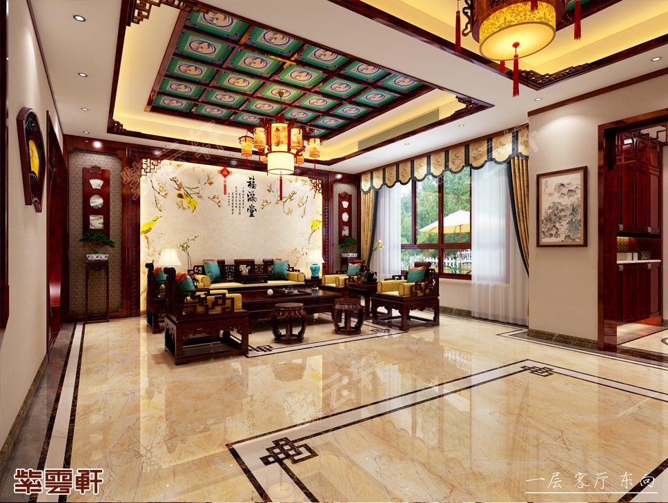 山东滕州姜先生别墅现代中式装修效果图--中国之韵