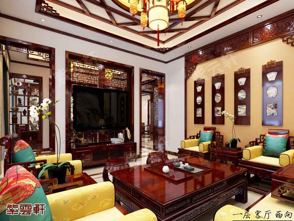 内蒙古呼和浩特刘总别墅中式装修 富丽堂皇的视觉盛宴