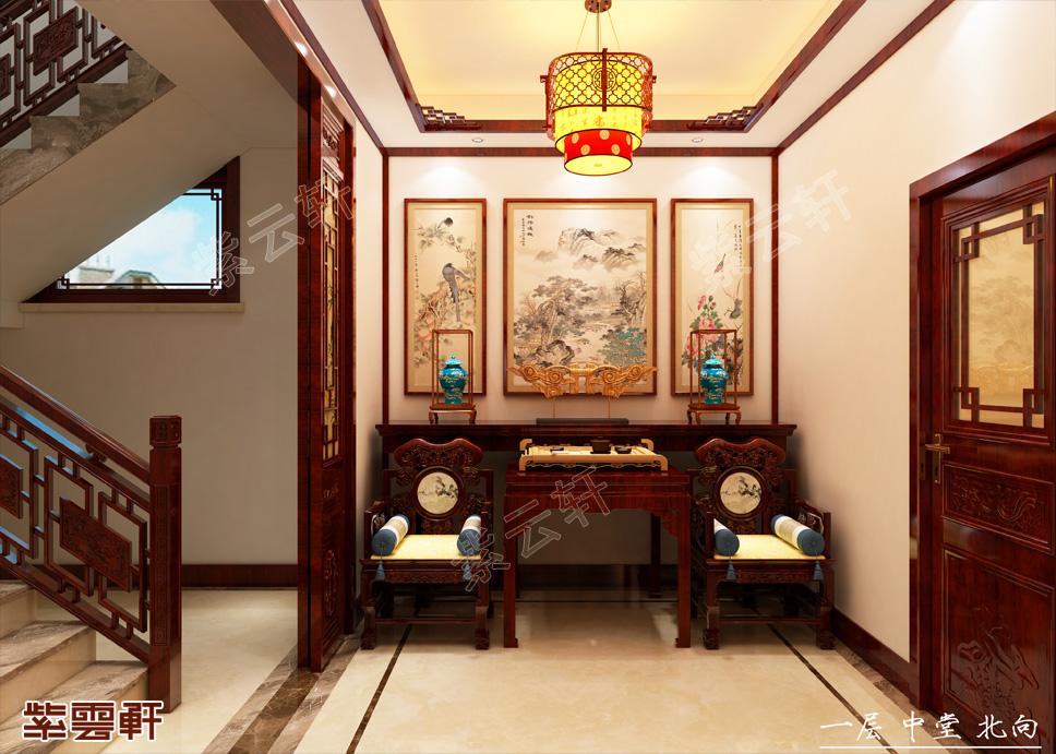 福建福州别墅中式装修 风花雪月 诗酒花茶