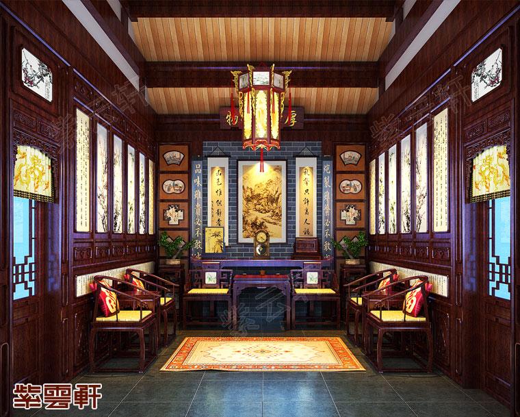 北京石景山别墅中式装修 天下无双品 人间第一楼