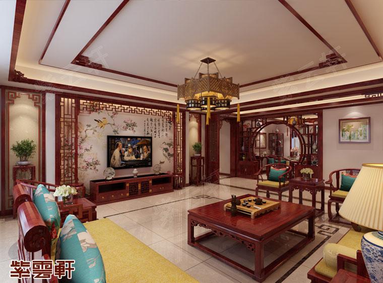 榆林市古典别墅中式装修 恰如波上清风