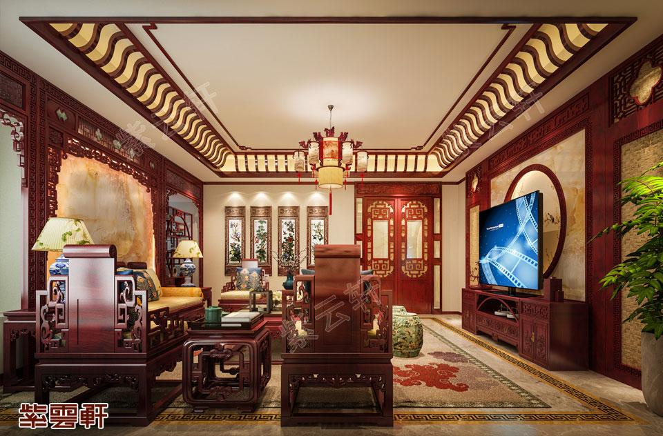 广西柳州市别墅中式装修 满袖浓香馥郁
