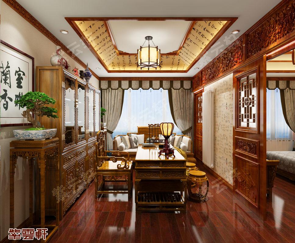 铜川市别墅中式装修 雅室兰香 温情有余