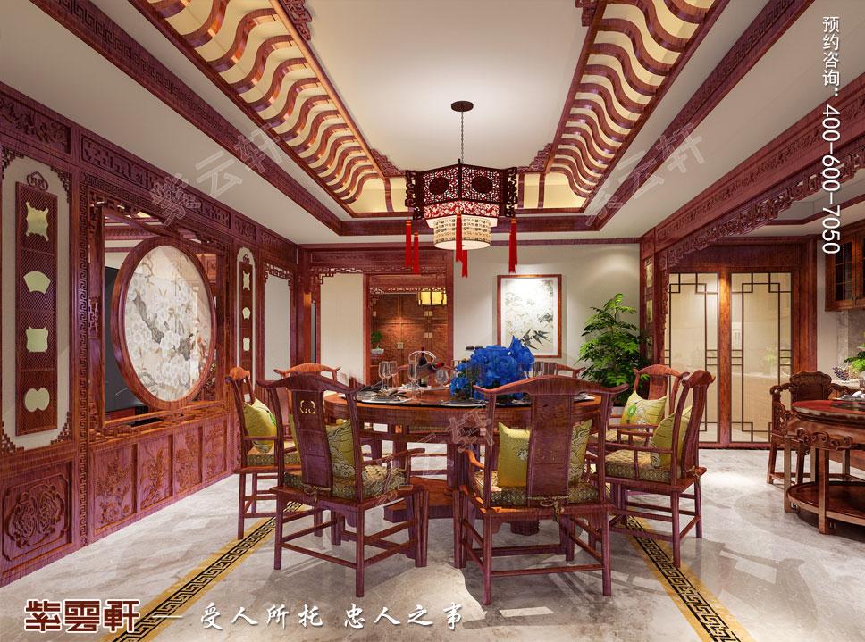 河南洛阳市别墅中式装修 花开时节动京城
