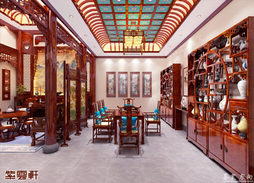 河南洛阳市别墅中式装修 别具风情的一隅